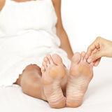 Toe Massage Stock Photography