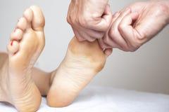 Toe Massage Imágenes de archivo libres de regalías