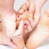 Toe Massage Fotografía de archivo