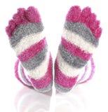 Toe socks Royalty Free Stock Photography