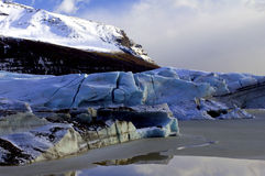 The Toe of Svinafellsjokull Glacier and Svinafellsheidi Mountain, Skaftafell, Iceland. Stock Photography