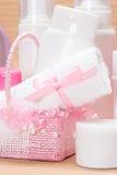 Toebehoren en schoonheidsmiddelen voor huidzorg Royalty-vrije Stock Foto's