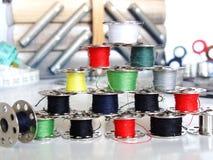 Toebehoren van het naaien Stock Afbeelding