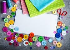 Toebehoren van kleermaker het naaien stock foto
