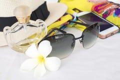 Toebehoren van kleurrijke vrouw in de zomer Royalty-vrije Stock Afbeeldingen