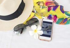 Toebehoren van kleurrijke vrouw in de zomer Royalty-vrije Stock Fotografie