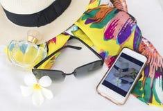 Toebehoren van kleurrijke vrouw in de zomer Stock Fotografie