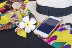 Toebehoren van kleurrijke vrouw in de zomer Stock Foto's