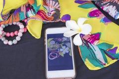 Toebehoren van kleurrijke vrouw in de zomer Royalty-vrije Stock Afbeelding