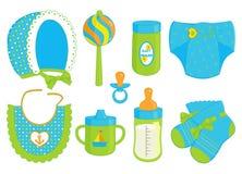 Toebehoren voor babyjongen Royalty-vrije Stock Afbeelding