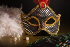 Toebehoren voor de maskerade royalty-vrije stock afbeelding