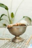 Toebehoren voor doopsel het baden in de doopdoopvont Stock Afbeeldingen