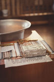 Toebehoren voor doopsel het baden in de doopdoopvont Royalty-vrije Stock Afbeelding
