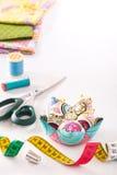 Toebehoren voor het naaien Stock Afbeeldingen