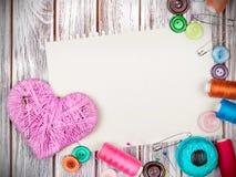 Toebehoren voor het naaien Stock Fotografie