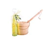 Toebehoren voor sauna Stock Foto's