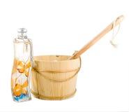 Toebehoren voor sauna Royalty-vrije Stock Fotografie