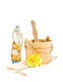 Toebehoren voor sauna Stock Foto