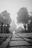 Toegang door de poort bij de vestingsstad, Elburg, Stock Fotografie