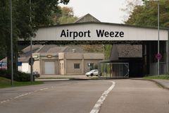 Toegang tot Weeze-Luchthaven royalty-vrije stock foto's