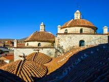 Toegankelijk dak van San Francisco Convent, Potosi, Bolivië, Zuid-Amerika stock fotografie