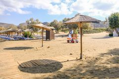 Toegankelijk strand in Griekenland royalty-vrije stock afbeeldingen