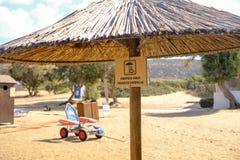 Toegankelijk strand in Griekenland stock afbeelding