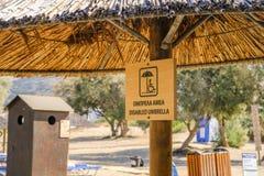 Toegankelijk strand in Griekenland stock foto's