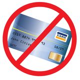 Toegelaten niet Creditcard Stock Fotografie