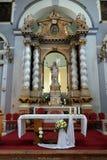 Toegenomen Christus, altaar in Franciscan kerk in Dubrovnik royalty-vrije stock afbeeldingen