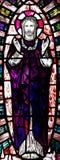 Toegenomen Jesus Christ in gebrandschilderd glas stock afbeelding