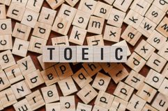Toeic word concept royalty free stock photography