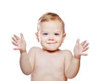 Toejuichende babyjongen royalty-vrije stock afbeelding