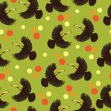 Toekanvogel en gekleurde stippen Stock Fotografie