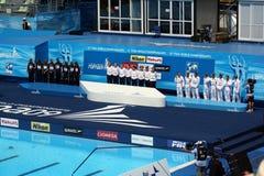 Toekennen Syncronised die kampioenschap 13 zwemt FINA Stock Foto's