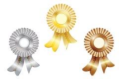 Toekenning en medailles Stock Foto's