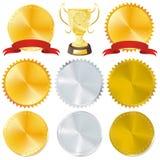 Toekenning en trofee Stock Foto's