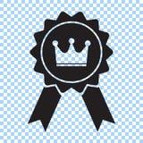 Toekenning met kroon en lintpictogram Beste keussymbool Vector illustratie stock illustratie