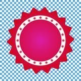 Toekenningspictogram, rood verbindingspictogram, sticker royalty-vrije illustratie