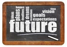 Toekomst, dromen, doelstellingen, en hoop royalty-vrije stock afbeelding