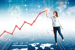 Toekomst en analyticsconcept Stock Foto