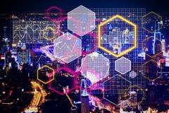 Toekomst en analyticsconcept royalty-vrije stock afbeelding