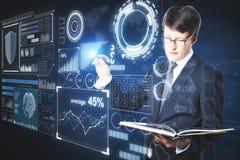 Toekomst en analyticsconcept royalty-vrije stock afbeeldingen