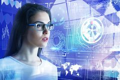 Toekomst en media concept Stock Afbeelding