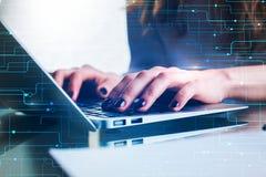 Toekomst en technologieconcept royalty-vrije stock afbeeldingen