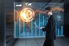 Toekomst en technologieconcept Stock Afbeelding