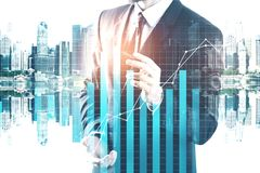 Toekomst, innovatie en financiënconcept Stock Afbeelding