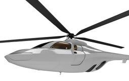 Toekomstig concept helikopter geïsoleerdeg mening Stock Fotografie