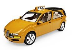 Toekomstig concept taxiauto geïsoleerdet mening Stock Foto