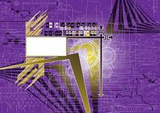 Toekomstige achtergrond met banner Royalty-vrije Stock Afbeelding